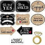 10 Pieces Engagement Announcement Photo Prop Kit Engagement Announcement Party Decorations Engagement Announcement Photo Signs Cardboard for Engagement Wedding Party