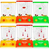6 Pieces Handheld Water Game Mini Arcade Water Ring Game Water Tables for Beach Toys Party Favor Fish Rings Fun Basketball Game for Teens Adults for Men Retro Pastime (Without Water, Random Color)