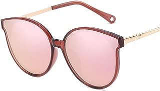 SGJFZD Men Women General Purpose Metal Sunscreen UV400 Vintage Retro Polarized Light Sunglasses TAC Fashion (Color : Dark red+Powder)