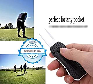 EFW Sport LINE Golf Divot Repair Tool & Magnetic Ball Marker - Retractable - Strong System but More Easy to Wear Perfect for Any Pocket - Ergonomic - Light - Refined - Golf Club Luxury Model