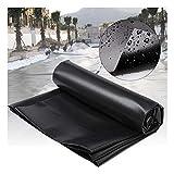GDMING Teichfolien Undurchlässig Reißfest Verstärkt Underlayment Cloth Liner Zum Geomembranschutz Landschaftsbau HDPE, 51 Größen (Color : Black, Size : 1.5x7m)
