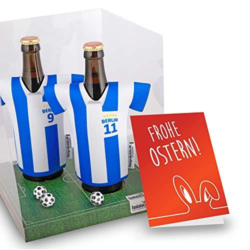 Ostergeschenk | Der Trikotkühler | Das Männergeschenk für Hertha-Fans | Langlebige Geschenkidee Ehe-Mann Freund Vater Geburtstag | Bier-Flaschenkühler by Ligakakao