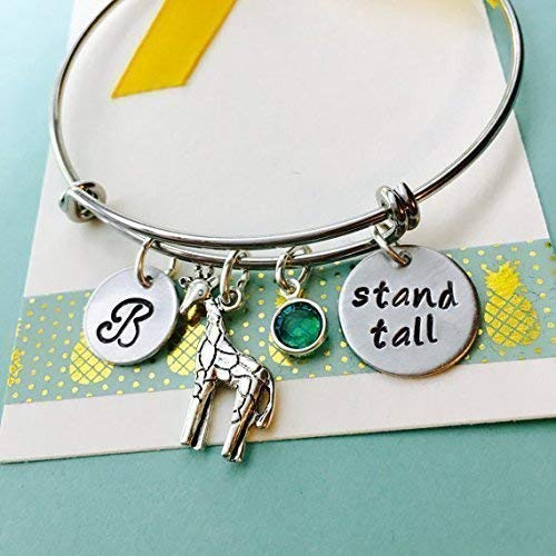 Giraffe Bracelet Stand Max 80% OFF Tall Cheap super special price Perso Inspirational Different Be