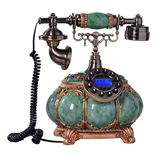 Teléfono Retro teléfono Fijo de Gama Alta casa de Lujo Antiguo teléfono Antiguo Tarjeta inalámbrica