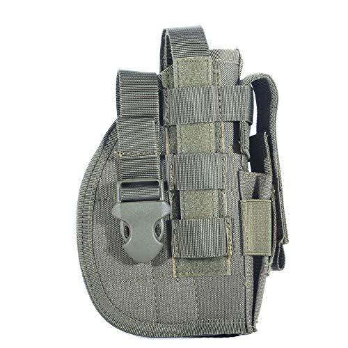 Gexgune Universal Tactical Pistole Holster Rechte Hand Molle Pistolenholster Combat Airsoft Taille Gürtelholster Schwarz Tan Grün Multicam Für Rechtshänder (Grün)