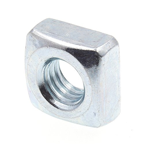 Prime-Line 9192638 Square Nuts, 5/16 in.-18, Zinc Plated Steel, 25-Pack