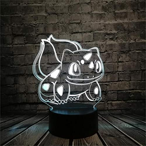WoloShop LED-Lampe Pokémon Bulbasaur wechselt Farbe USB Nachtlicht