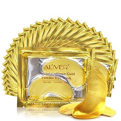 Crystal 24K Gold Under Eye Treatment Mask (26 Pairs), Anti Aging Hyaluronic Acid Collagen Eye Pads. Reducing Wrinkle, Eye Bags, Puffy Eye from Nixis