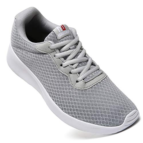MAITRIP Mens Gym Shoes,Athletic Running Shoes,Lightweight Breathable Mesh Casual Tennis Sports Workout Walking Sneakers,Grey,Size 12