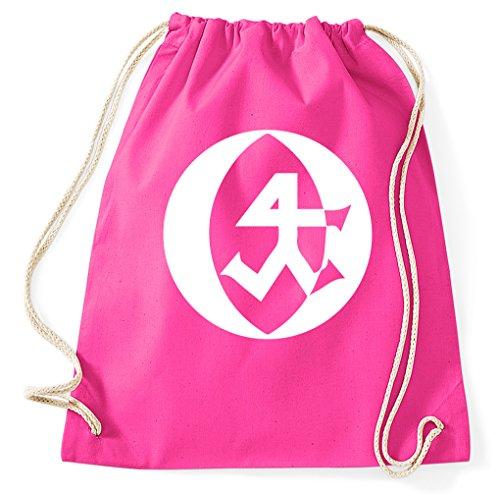 Steinmetz Zunft Logo Turnbeutel Sportbeutel, pink