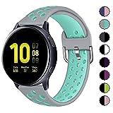 KIMILAR Armband Kompatibel mit Samsung Galaxy Watch 42mm/Active/Active 2 (40mm/44mm) Silikon Armbänder für Garmin Vivoactive 3/Forerunner 645/245, Vivomove HR Sport, Huawei Watch GT 2/Watch 2 -S