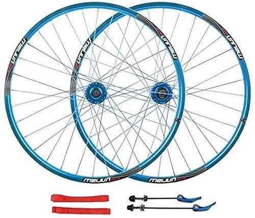Juego de ruedas de bicicleta de 20 mm Rueda delantera de bicicleta MTB de 26 pulgadas Rueda trasera Llanta de aleación de doble pared Liberación rápida Freno de disco de 7-10 velocidades Rueda de bici