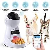 *Iseebiz Menjadora Automàtica Gats/Gossos Dispensador de Menjada Wifi amb App Control Recordatori per Veu, *3litros