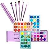Kit de maquillaje esmaltado de belleza, sombra de ojos de 60 colores y pinceles de maquillaje de 5...
