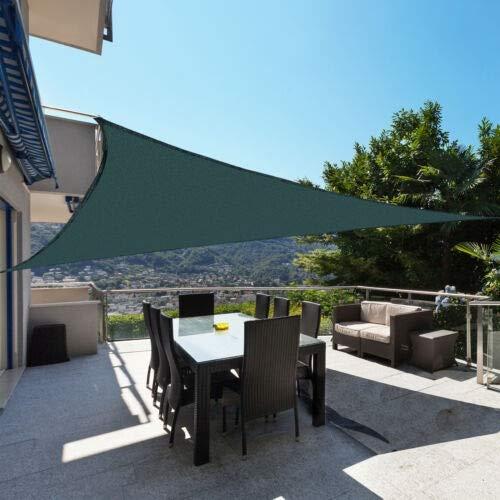 10'x10'x10 'Sun Shade Sail Sail Shade Sun Shade UV Block Canopy Tela Duradera Tela De Toldo para Patio Jardín Patio Trasero Y Actividades Al Aire Libre