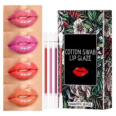 Tattoo Lipstick, 20 Pcs Disposable Cotton Swab ...
