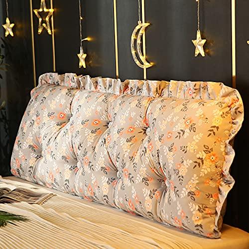 ZXD Cabecera de Lectura Almohada para el Cuerpo Cojín de cabecera Respaldo Extra Grande Almohadas lumbares Posicionamiento Soporte de Espalda Refuerzo para Cama Sofá,4,90 * 50cm/36 * 20in
