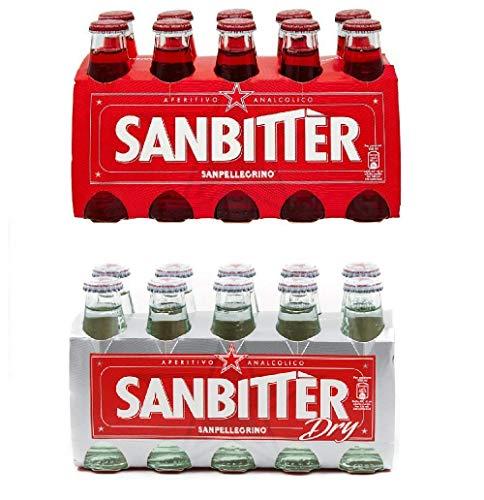 Sanbittèr 10x 100ml + Sanbittèr weiss dry 10 x 10cl. Aperitif Sanbitter Italian Antipasti duoset