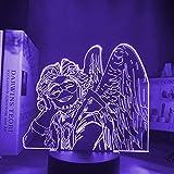 CHWORTHAND 3D My Hero Academia Hawks Anime Led Lamp Night Lights Boku No Hero Academia Lamp Ara for Table Lamp, for Bedroom Lamp 16 Colors Anime Home Decor Light Kids Night Light Gift