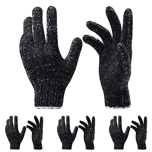 4 Pairs 8 Pcs Exfoliating Gloves for Shower - Premium Bath Gloves - Body Scrubber Gloves for Shower, Spa, Massage, Body Scrubs, Remove Dead Skin, Deep Cleaning