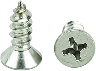 pcs Phillips Flat Head 6 x 5//8 Type AB Zinc Plated Sheet Metal Screw SMS Set #MO1635-P Warranity by Pr-Mch New Package of 2800