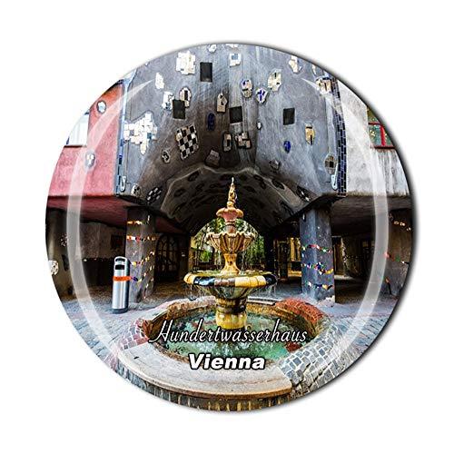Hundertwasserhaus Wien Österreich Kühlschrankmagnet Reise Souvenir Geschenk Zuhause Küche Kühlschrank Dekoration Magnetaufkleber Kristall-Magnetsammlung