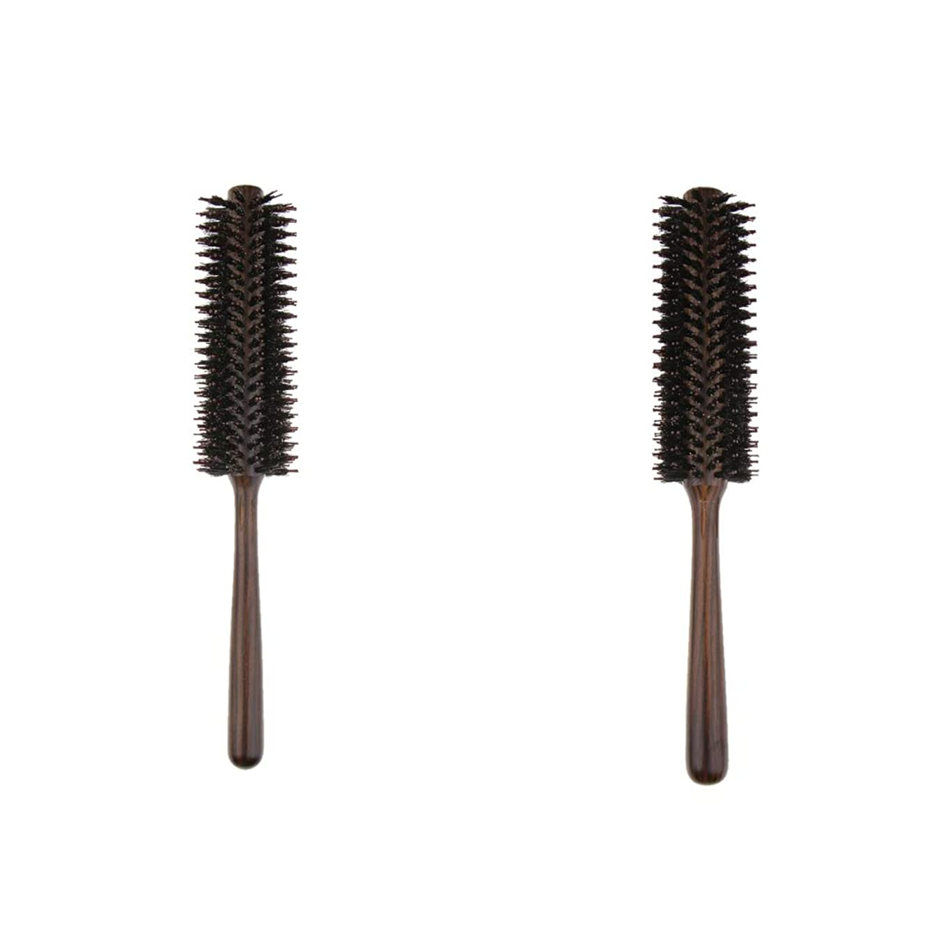開始無限大略すB Blesiya 2本 ヘアブラシ 木製櫛 ロールブラシ プロ 美容師用 自宅用
