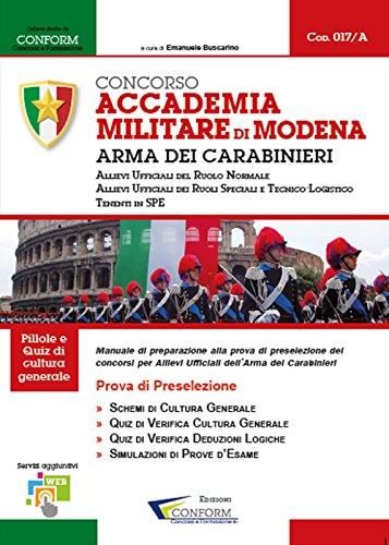 Concorso Accademia Militare di Modena. Arma Dei Carabinieri. Prova di preselezione