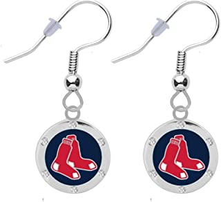 Final Touch Gifts Boston Red Sox Crystal Earrings Pierced