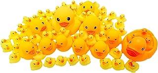 かわいい あひる 親子 64匹 大量 セット お風呂 で ぷかぷか 子ども 水遊び 多サイズ 5種 (64匹セット)