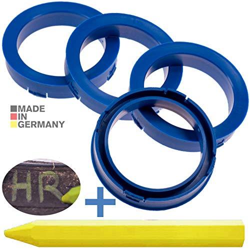 RKC 4X Anillos de centrado Azules 73,1mm x 57,1mm + 1x Pastel para neumáticos de Goma y Verdes