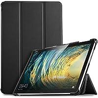IVSO Funda Carcasa para Huawei MediaPad M5 Lite 10, Slim PU Protectora Carcasa Cover para Huawei MediaPad M5 Lite 10.1 Pulgadas, Negro