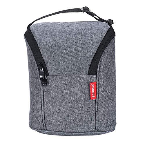 Bolsa de almuerzo con aislamiento reutilizable Mini bolsa de almuerzo con aislamiento Ligero refrigerador para mujeres, hombres y niños Moda Térmica Trabajo Picnic Bolsa de comida Bolsos de mano, sin