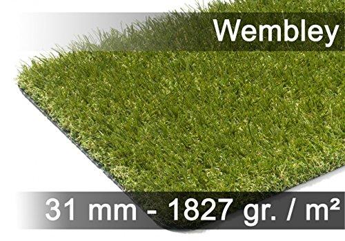 Wembley - Tapis Type Gazon Artificiel - pour Jardin, terrasse, Balcon - Vert 13 Tailles Disponibles