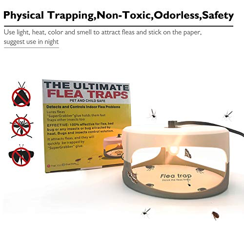 Sumeber Klebrige Kuppel Smart Trap + 2 Leimscheiben; Wirksam Gegen Flöhe, Mücken und Andere Kleine Insekten (SK111) - 4