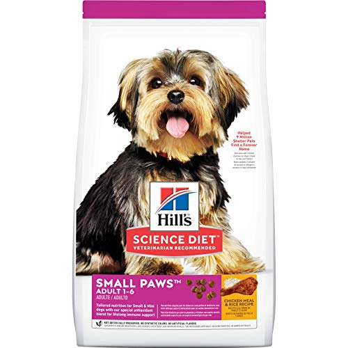 Hill's Science Diet Adult Small & Toy Breed Dry Dog Food, Chicken Meal & Rice Recipe, 15.5 lb. Bag