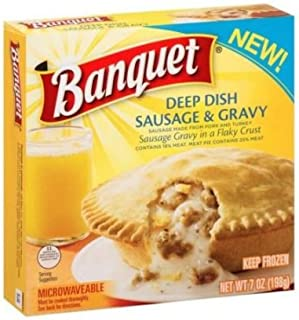 Banquet Deep Dish Sausage and Gravy Breakfast Pot Pie, 7 Ounce -- 24 per case.