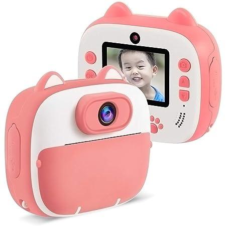 ClickingDYS D13 子供用デジタルカメラ 子供用プリン サーマル加熱仕組み 前後2600万画素 1080P FHD動画 自撮可能 連続撮影 タイムラプス撮影 OTG USB充電 子供のおもちゃ ミニカメラ 子供プレゼント (32GB付き,ピンク)