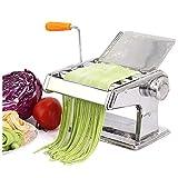 Macchina per Pasta e tagliatelle Manuale in Acciaio Inossidabile Fettuccine Spaghetti Lasagne Ravioli Macchina per tagliatelle Rullo per impastare Strumento per Tagliare la Pasta