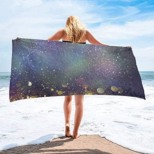 Toalla de Playa de Secado rápido Personalizada Rainbow, Toallas de Mano Grandes de Gran tamaño absorbentes y Ligeras para baño, Hotel, Gimnasio, SPA, Piscina, natación (27 'x55, Glitter Galaxy)