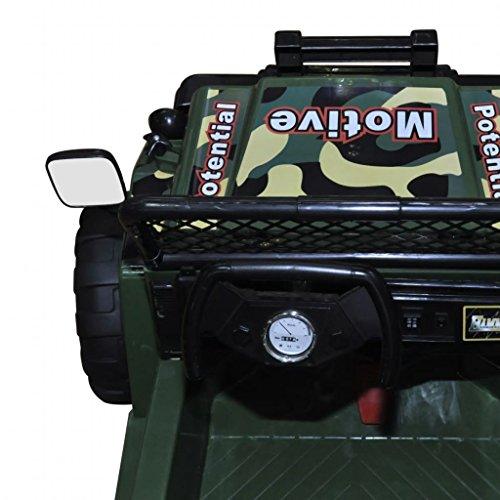 RC Auto kaufen Kinderauto Bild 2: SENLUOWX Kinderauto Elektroauto Kinderfahrzeug Auto 2-Sitzer Armeegrün Kinderauto 3 – 5 km/h*