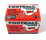 1989 Topps Traded Football Complete Mint 132 Card Set in Original Factory Set Box. Featuring Rookie Cards of Barry Sanders, Troy Aikman, Derrick Thomas, Deio... rookie card picture