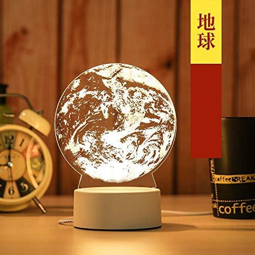 Nachtlampje plug in de muur 3D bureaulamp slaapkamer energiebesparende lamp nachtlampje