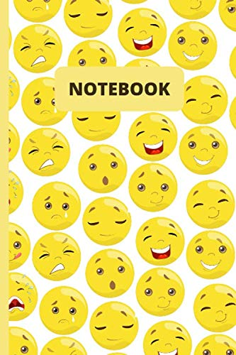 """Notebook: emojis - 120 lined pages (6"""" x 9"""")"""
