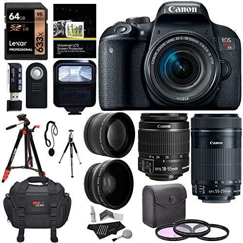 Canon EOS T7i with Accessory Bundle 4
