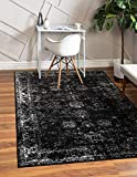 Unique Loom Sofia Collection Traditional Vintage Area Rug, 9' x 12', Black/Ivory