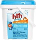 HTH 42033 Super 3' Tablets Swimming Pool Chlorine, 5 lbs