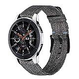 TRUMiRR Compatible avec Galaxy Watch3 45mm/Galaxy Watch 46mm Bracelet,22mm Quick Release Bande de Montre en Nylon Tissé Bracelet pour Samsung Gear S3 Frontier/Classic