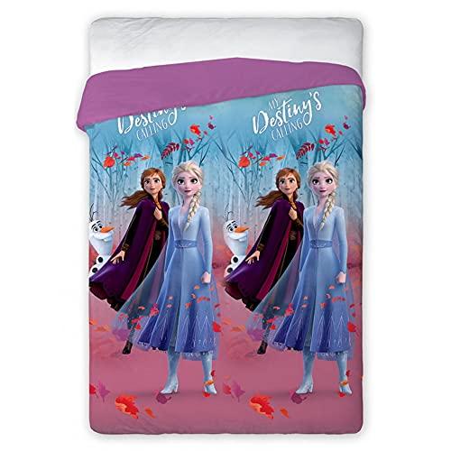 Colcha de verano Frozen II Disney Elsa Anna manta 120 g cama individual 170 x 250 cm – Frozen 2-002