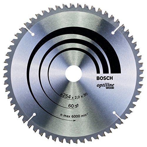 Bosch Professional Kreissägeblatt Optiline Wood (für Holz, 254 x 30 x 2,0 mm, 60 Zähne, Zubehör Kreissäge)